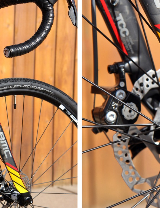 BMC claims the dramatic steps and kinks in the fork lend a smooth ride up front, but in reality it's quite stiff