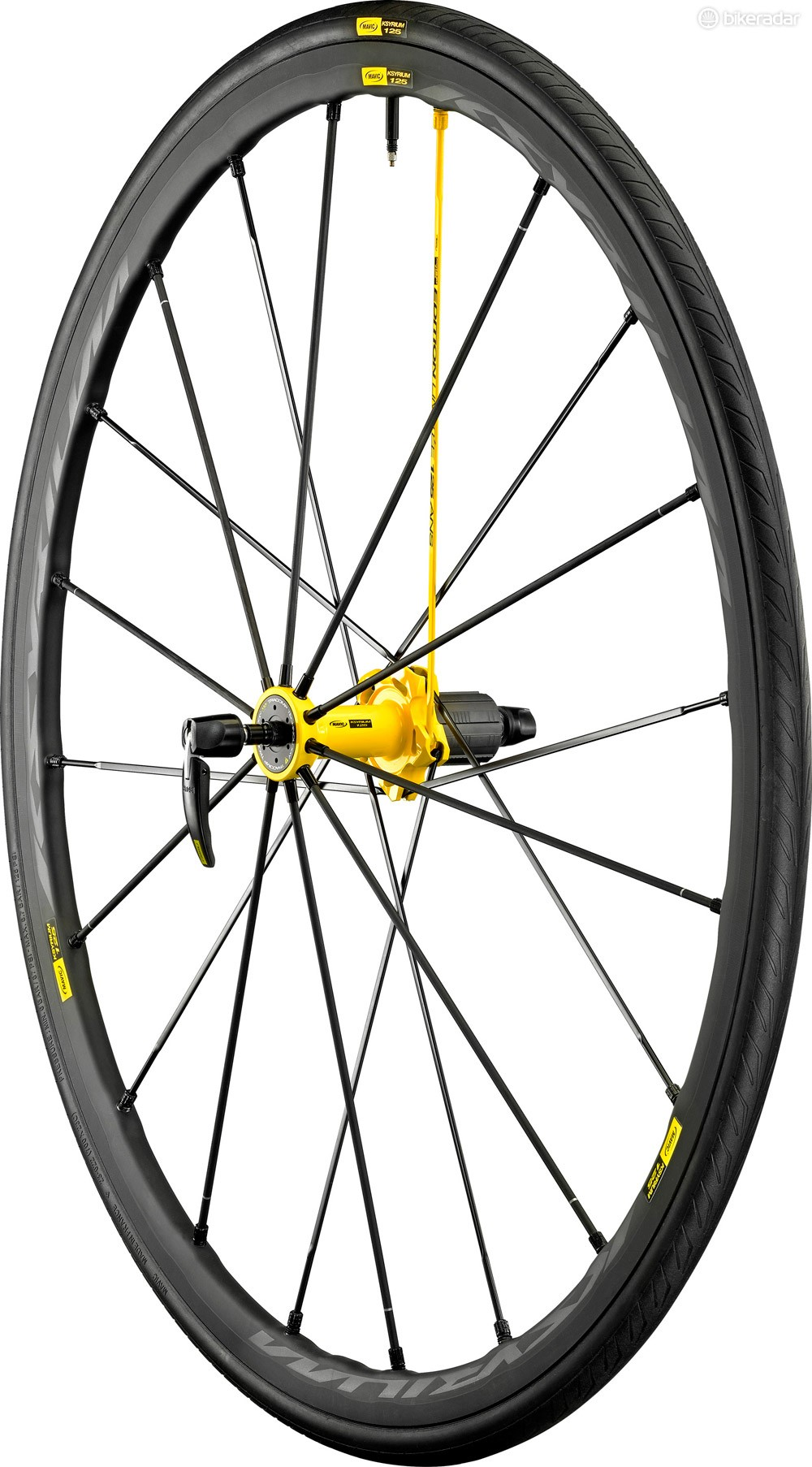 The new Ksyrium 125 debuts Mavic's new 4D inter spoke milling, promising lighter weight and improved aerodynamics