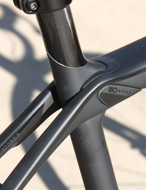 Since its inception, the defining feature of all Trek Domane endurance bikes has been the IsoSpeed 'decoupler'. This allows the seat tube to pivot independently of the top tube and seat stays and makes for a remarkably comfortable ride