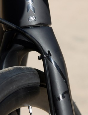 Front brake hose routing is functionally without fault but could be a little prettier to look at