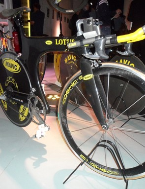 Boardman's Lotus bike was designed by British engineer Mike Burrows