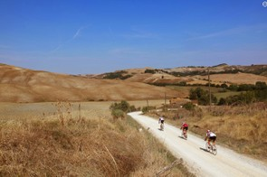Tuscany's white gravel roads are a treat on a road bike