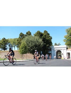 While Italy has congested areas like any country, it also boasts seemingly endless quaint historic districts (like Lucca's center, here) with roads perfect for cycling