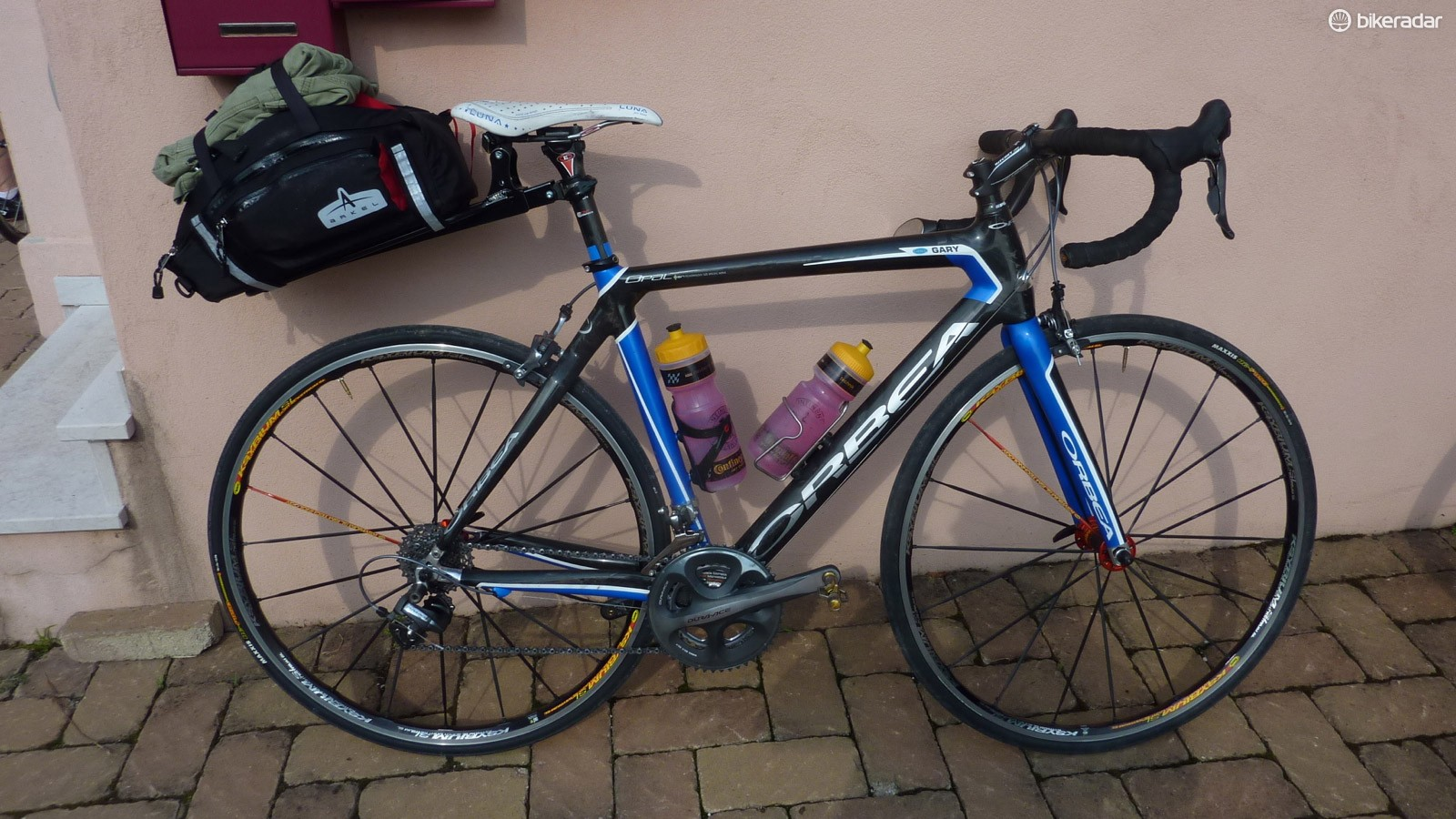 Clif Bar founder Gary Erickson's rig for living on and off of his bike in Italy