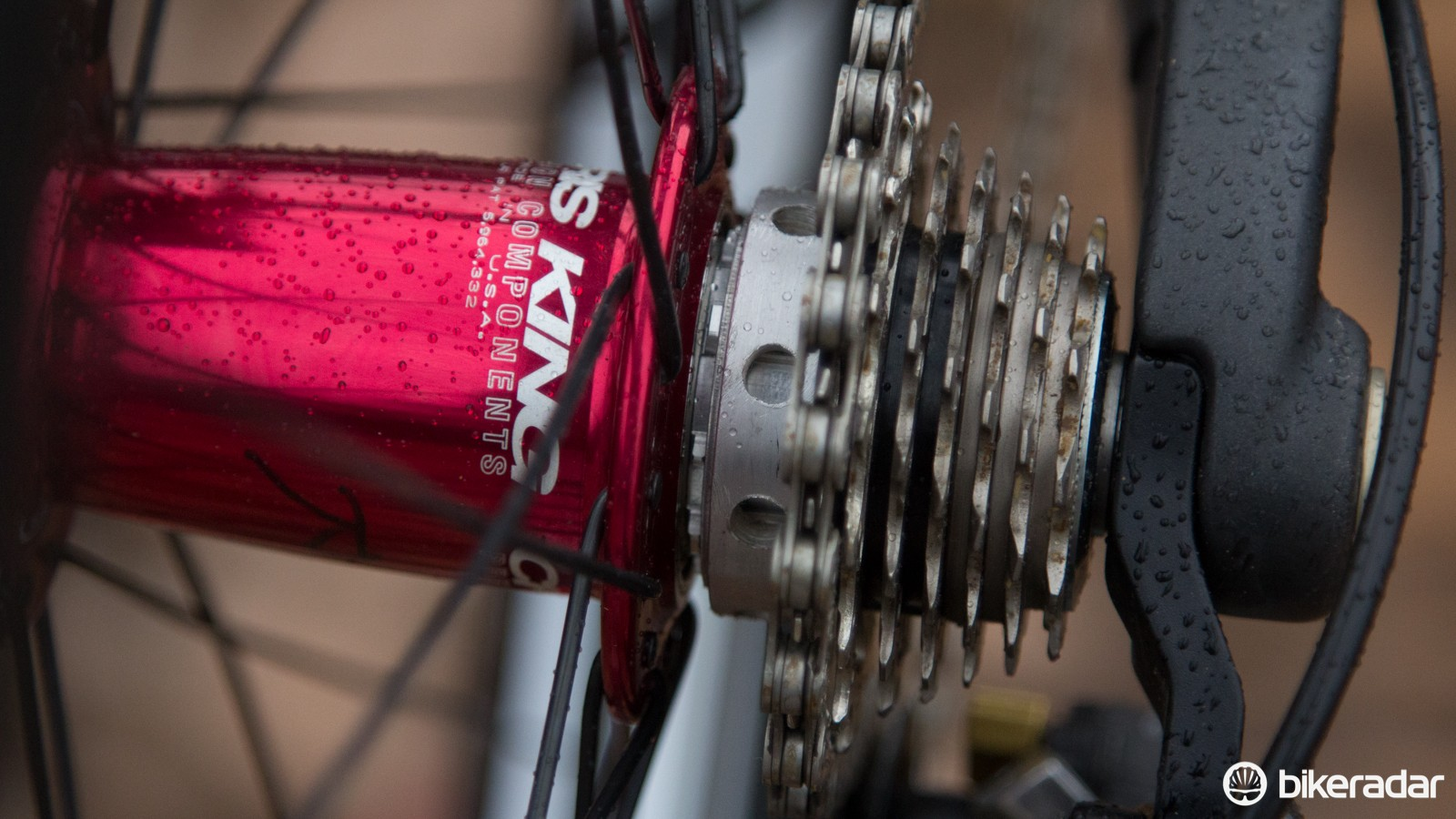 A custom ring saves weight and replaces the lower gears on this custom 11-19T Ultegra cassette