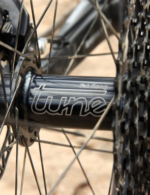 The Tune Fat Kong rear hub makes quite a racket when you roll down the trail