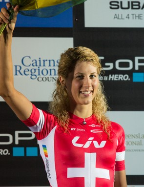 Jolanda Neff took the win at the 2014 World Cup opening round, winning her first elite race at just 21