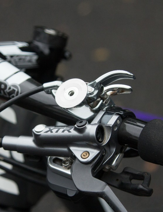 Neff uses a handlebar mounted suspension lockout remote