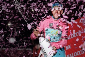 This year's Santini pink jersey