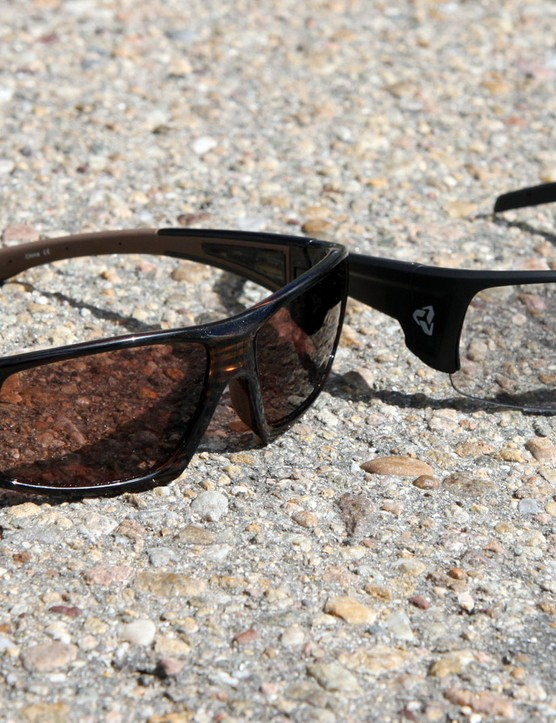 The Ryders Eyewear Trapper (left) and Caliber (right) offer generous coverage, with styling that can also work well off the bike