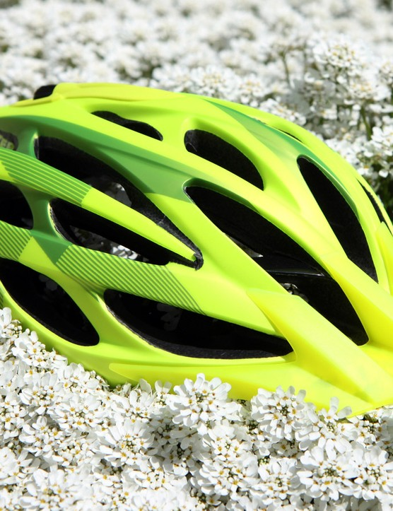 Lazer's Rox mountain bike helmet features an in-molded shell, the easy-to-use Rollsys adjustable retention system, and 24 vents