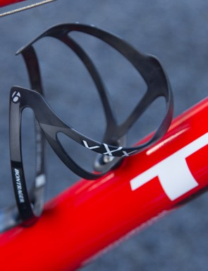 A Bontrager XXX bottle cage. Well, why not?