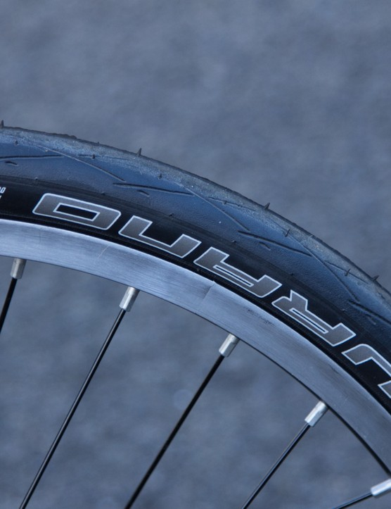 These Schwalbe Durano slicks are actually quite sensible - puncture resistant, grippy and fast