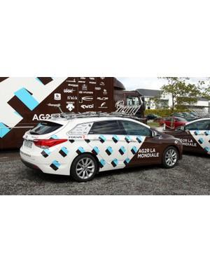 Ag2r-La Mondiale uses these sleek Hyundai wagons