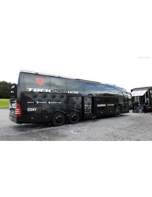 Riders, on the other hand, typically travel in these enormous custom buses