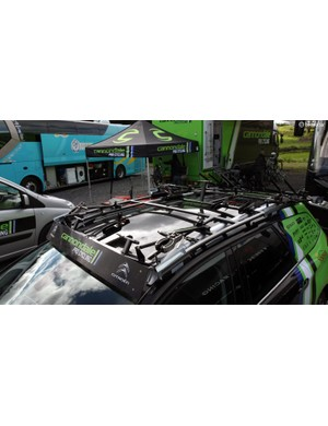 Switching team vehicle sponsors can be a major pain since racks have to be refitted as well