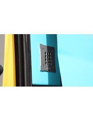 Instead of constantly wondering who has keys, Astana's team bus is accessed via keypad