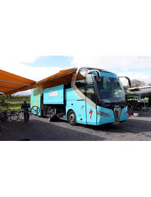Somehow it seems as if the Astana team bus would still look appropriate floating through space