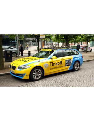 Tinkoff-Saxo uses these BMWs in the caravan