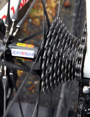 Teams often mark their wheels so that they're easier to retrieve in case a rider has to use one from neutral support during a race