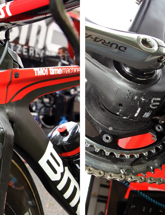 The brakes are neatly hidden away on the BMC TimeMachine TM01