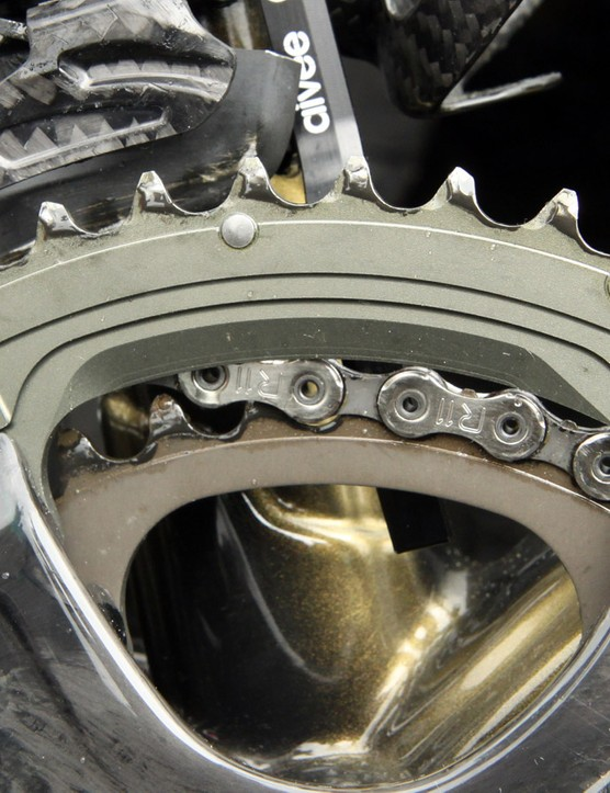 Chainrings are clearly machined on this prototype but we expect forged units for production
