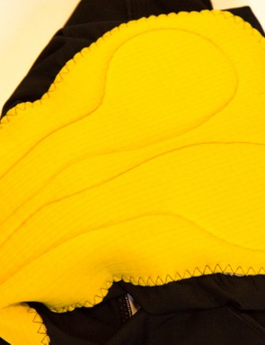 The chamois is bright yellow and is easily spotted in the drawer among other bibs