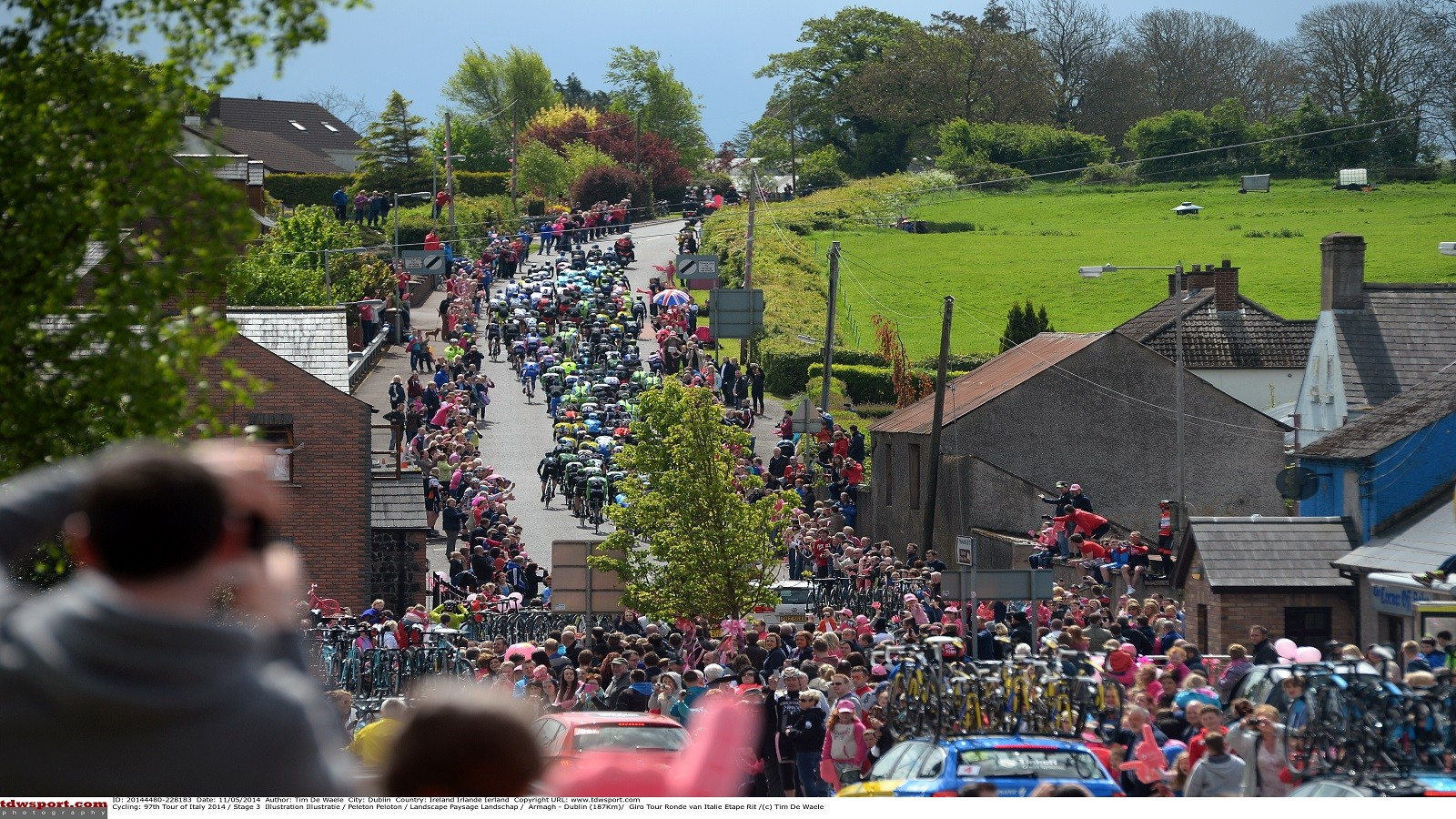 The Giro nears Dublin