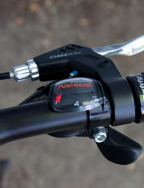 The action of this Shimano trigger shifter is in reverse compared with most mountain bike shifters. It took sometime before we got the direction right