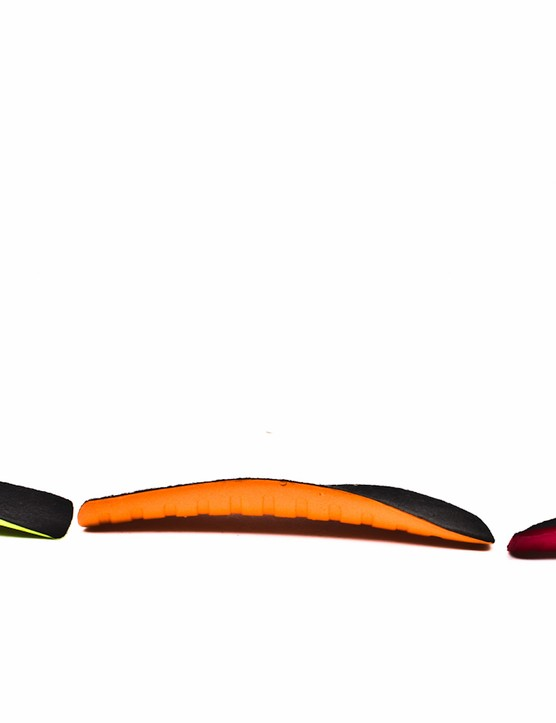 Included with the Supernatural Fit insoles are three separate arch supports that attach via Velcro