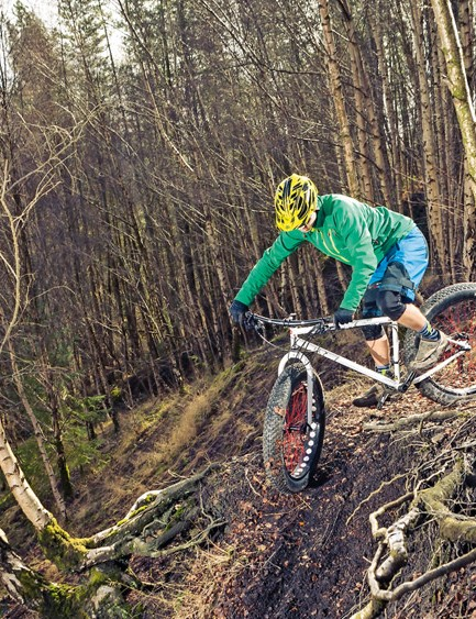 Out on the trail, the Cooker Maxi's kooky handling calls for careful tweaking of tyre pressure