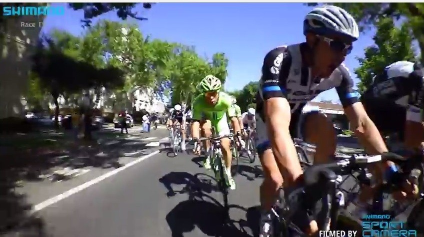 John Degekolb winding up for the sprint in Tour of California stage 1
