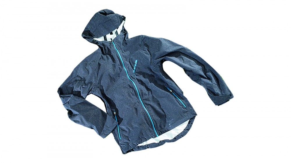 A waterproof jacket is a sensible top layer for rainy weather