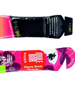 Energy gels will give you a boost when you're tired. A banana will do the job too