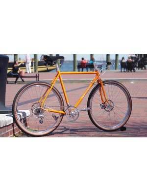 Velo Orange has also been experimenting with running 650b wheels on the frameset