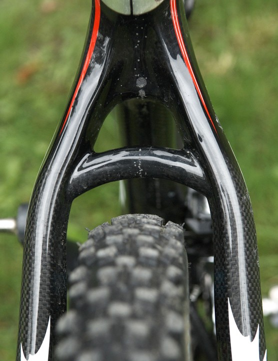 Curved seat stays provide a unique look.
