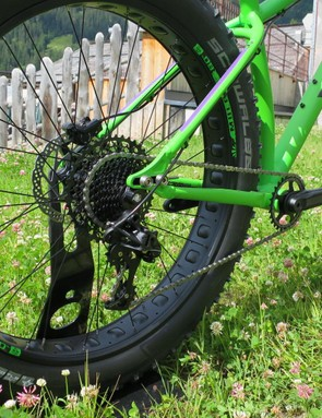 Adjustable dropouts let you fine-tune feel or go singlespeed