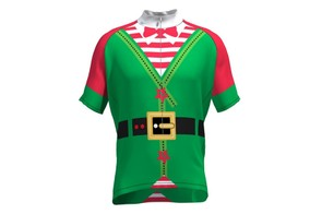 The eye-wateringly vibrant elf-themed jersey from US store CycleGarb