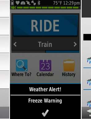 The amount of customization options can be a bit overwhelming at first interaction. Weather alerts pop up on screen, and more detailed weather reports are just a click away