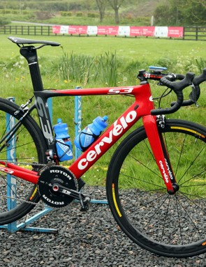 Hometown favourite Dan Martin (Garmin-Sharp) was set to ride this Cervélo S3 in this year's Giro d'Italia before an unfortunate crash in the opening team time trial forced him to retire