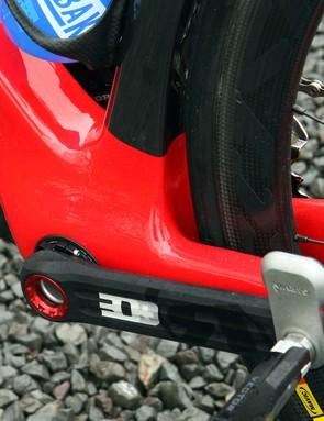 Cervélo makes full use of the extra-wide BBright bottom bracket format