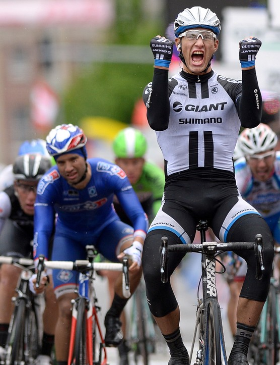 Marcel Kittel won stage 2 of the 2014 Giro d'Italia