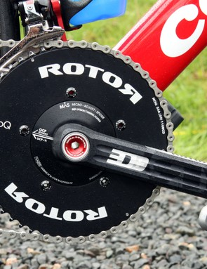 Whereas cranksets were once open and airy, nowadays they're virtually solid discs