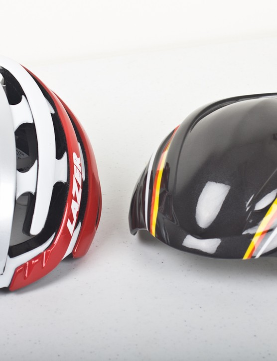 Lazer includes its Aeroshell with the Z1 - a thin plastic cover with claimed aerodynamic benefits. At the very least, it's a great weather shield