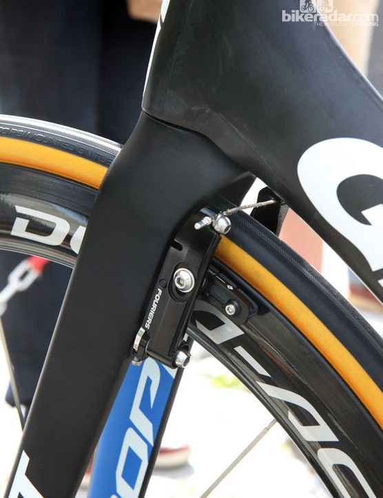 And the brakes installed on Marcel Kittel's 2014 race bike
