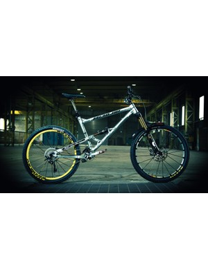 With downhill bike geometry but none of the excess weight, Chris' Nicolai is a real trail rocket in his capable hands