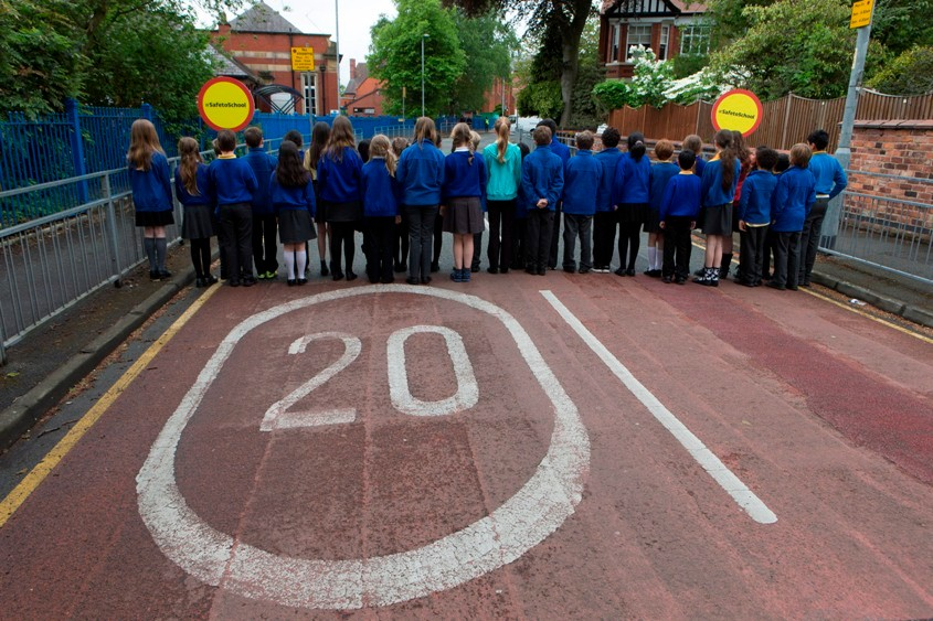 Thirty-three children - an average class of pupils - were killed on UK roads in 2012