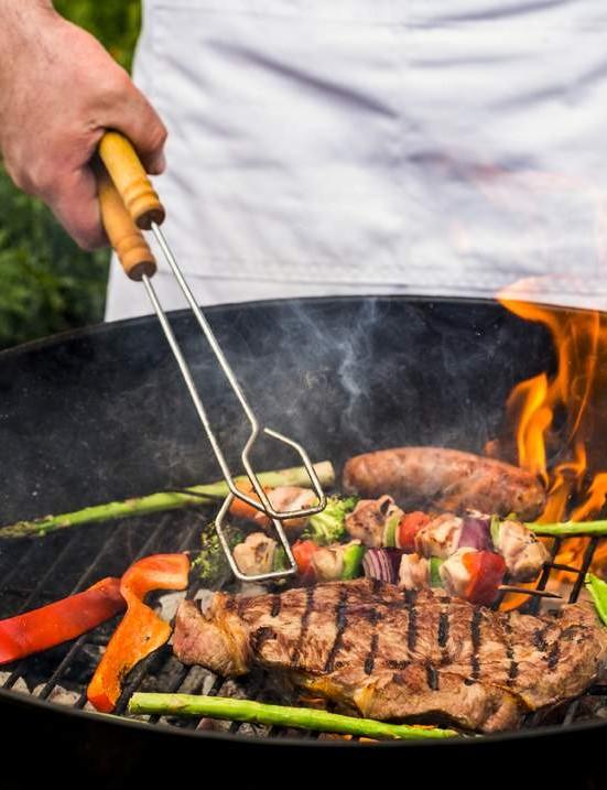 Steak on a barbecue