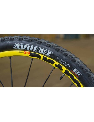...and a heavier-duty Crossmax Enduro wheel and faster rolling Ardent tyre at the rear…