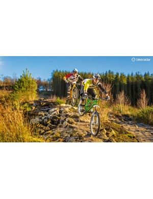 The trails at Stainburn may be short, but their certainly sweet...and technical